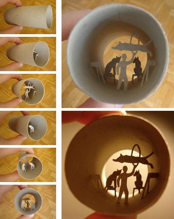 Miniaturwelten von Anastassia Elias in alten Toilettenpapier-Rollen - Bild 6