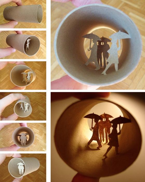 Miniaturwelten von Anastassia Elias in alten Toilettenpapier-Rollen - Bild 7