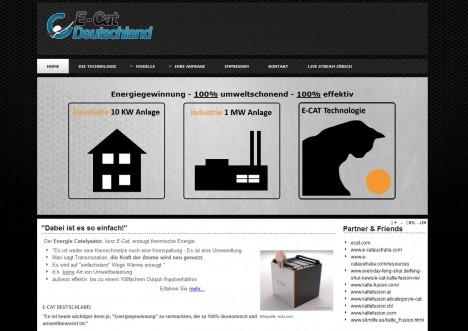 www.ecat-deutschland.org - Launch der Website eines E-Cat-Lizenznehmers für Deutschland