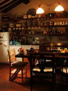 Küche in einem typisch italienischen Landhaus