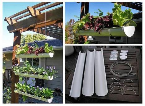 """Salat """"mehrstöckig"""" in der Dachrinne anpflanzen - so geht es!"""
