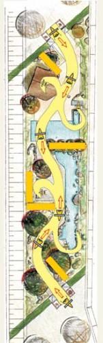 Visualisierung des Qi-Flusses: Dynamik im Neuland-Park Leverkusen-Wiesdorf