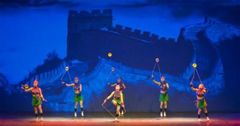 Der Chinesische Nationalcircus beim  4. Internationalen Varietéfestival 2012