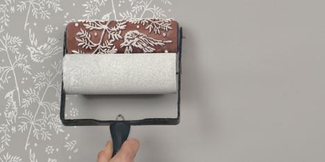 """Tolle Gestaltungsidee für Wände: Muster-Roller der britischen Firma """"The Painted House"""""""