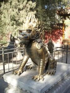 Chinesisches Einhorn oder Qilin, wie es korrekt heißen müsste