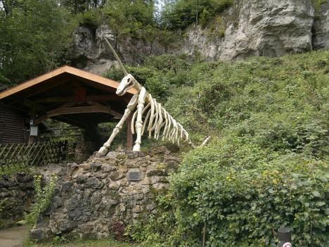 Eingang zur Einhornhöhle im Geopark Herzberg am Harz