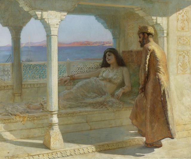 Das Spiel mit Licht und Schatten ist ein wesentliches Merkmal orientalischer Architekturen, hier perfekt in Szene gesetzt in einem Gemälde von Edwin Lord Weeks