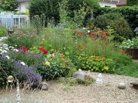 Bei der Pflanzen-Auswahl ist auf eine gute Mischung zu achten, damit der Garten stets blüht. Foto: Hedwig Seipel