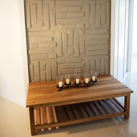 Strukturierte Wandpaneelen sorgen auf einfache Weise für optisch mehr Tiefe