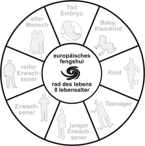 Die 8 Wandlungphasen entsprechend dem Lebensalter, Grafik (C) Irmgard Brottrager