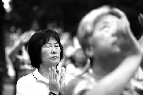 Qi Gong im Himmelstempel-Park in Peking
