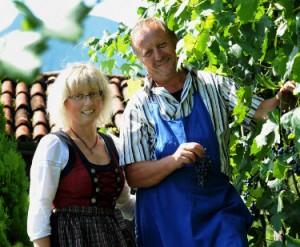 Ehepaar Platter, die Betreiber des Oberglunigerhof