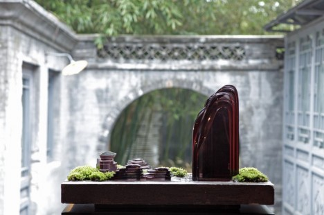 Berge und Wasser: Symbole für Standhaftigkeit und Flexibilität. Zugleich sind sie ein Sinnbild für die widerstrebenden Prinzipien von Yin und Yang