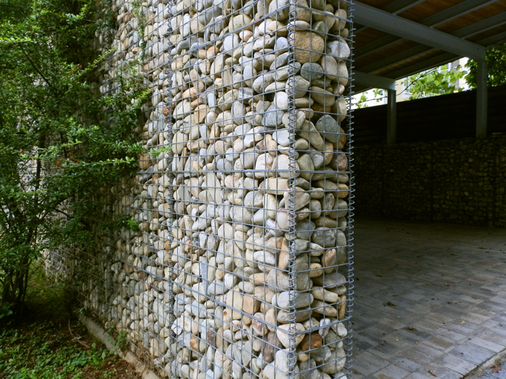 Gabionen Carport gabionen steinmauern ohne versatz und ohne mörtel