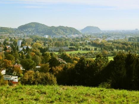 Schlossberg und Rainerkogel von St. Veit aus gesehen, Foto (C) Irmgard Brottrager
