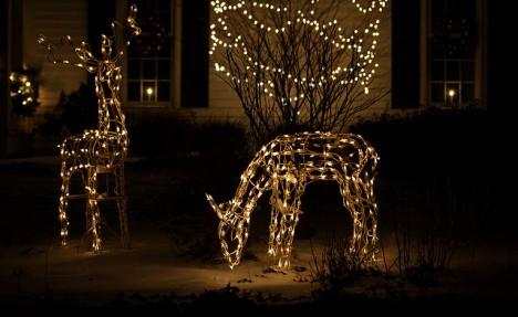 Klassische LED-Gartenbeleuchtung für die dunkle Jahreszeit
