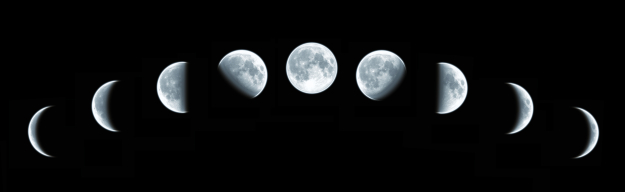 Die Mondphasen die wir beobachten können, haben nichts mit den Mondhäuser zu tun. Foto: istockphoto / ©korinov