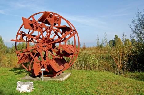 Antikes Schaufelrad eines Rad-Dampfers, Foto (C) Gerhard Giebener (Flickr)