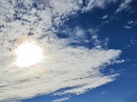 Sonne hinter Zirrus-Wolken, Foto (C) Irmgard Brottrager