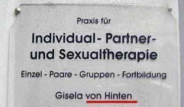 Ungewollt komisch die Assoziation, welche vom Angebot und dem Namen der Therapeutin ausgelöst wird