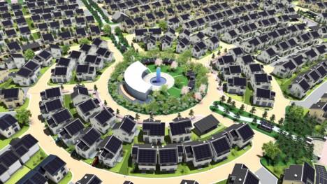 So genannte Smart Homes wie hier in der japanischen Modell-Stadt Fujisawa sollen urbanes Leben noch nachhaltiger gestalten