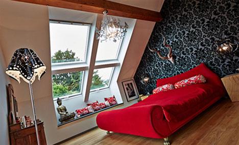 Nach Feng Shui Kriterien gestaltetes Schlafzimmer