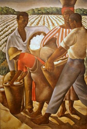 Ausbeutung mit Tradition: Arbeiter auf einer Baumwollplantage im Süden der USA um 1934