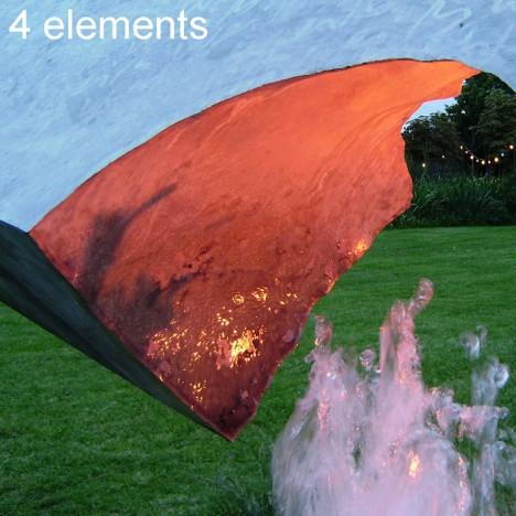 Europäisches Fengshui basiert auf den 4 Elementen Feuer, Wasser, Luft und Erde. Foto (C) Irmgard Brottrager