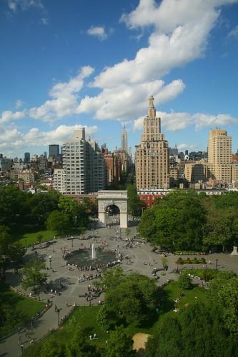 Washington Square Park in Midtown Manhattan. Mehr Grün in der Stadt sorgt nachweislich für eine bessere Gesundheit der Anwohner