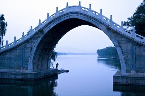 Die Jadebandbrücke nahe des Neuen Sommerpalastes in Peking, China