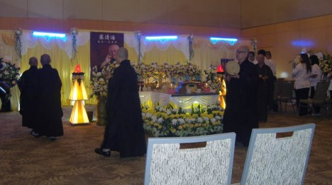 Dreitägige Totenwache: Nur dem engsten Kreis  seiner Schüler war die Teilnahme erlaubt