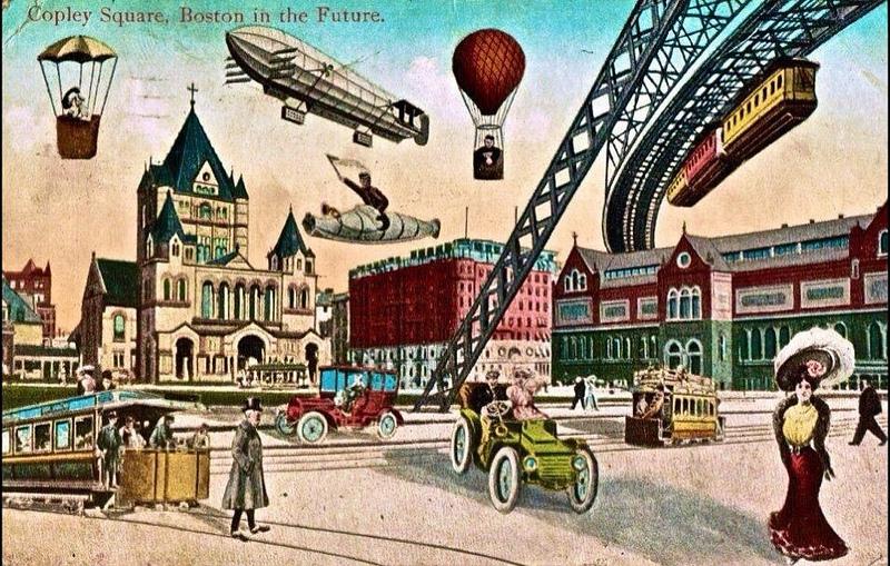 Wie nah ist dieses Zukunftsszenario an der Realität? - So malte man sich die Zukunft von Boston Anfang des 20. Jahrhunderts aus