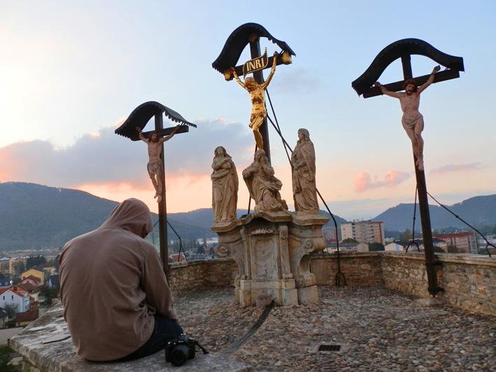Die Gipfel-Kreuze am Kalvarienberg in Graz, Foto (C) Irmgard Brottrager