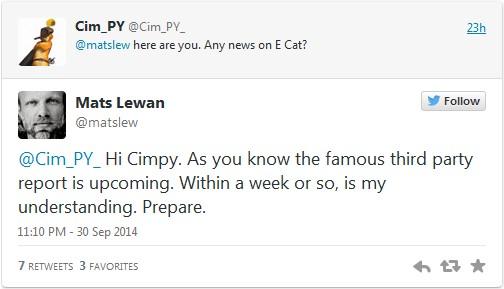 Oktober 2014: Neuer E-Cat Testbericht in Kürze erwartet