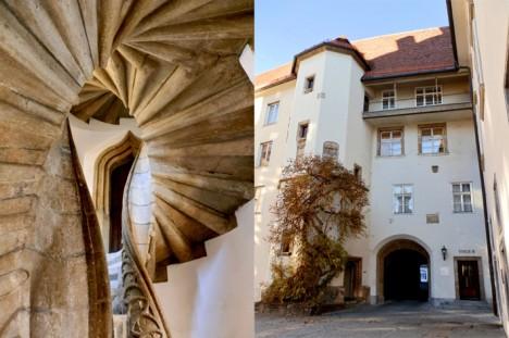 Doppelwendeltreppe in Graz, Foto (C) Irmgard Brottrager