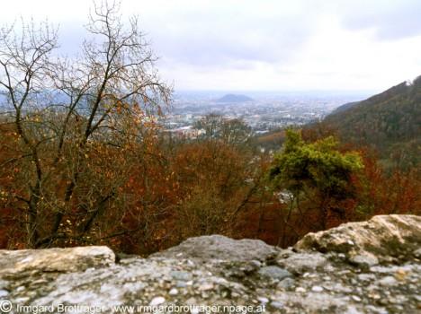 Ruine Gösting, Blick auf Graz, Foto (C) Irmgard Brottrager