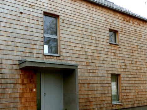 Holzschindel-Fassade, Foto (C) Irmgard Brottrager