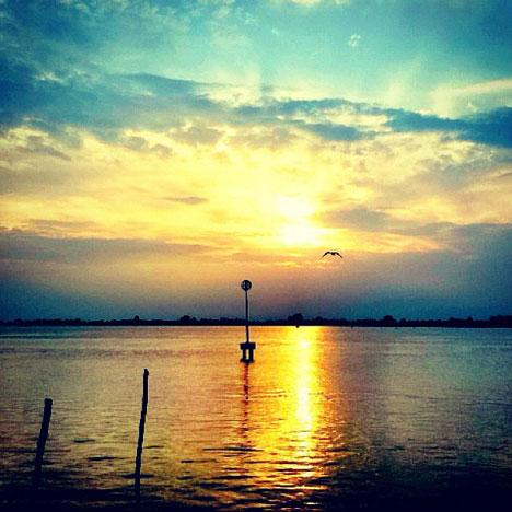 Sonnenuntergang in Jesolo: Symbol für Ruhe und Entpsannung