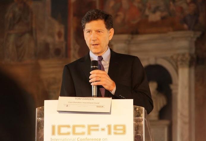 Tom Darden zur Eröffnung der ICCF19 am 13. April 2015