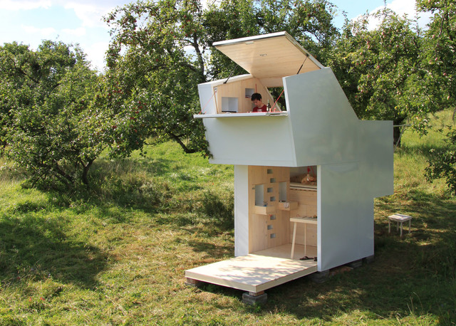 mobile wohn box kompaktes wohnen auf 10 quadratmetern. Black Bedroom Furniture Sets. Home Design Ideas
