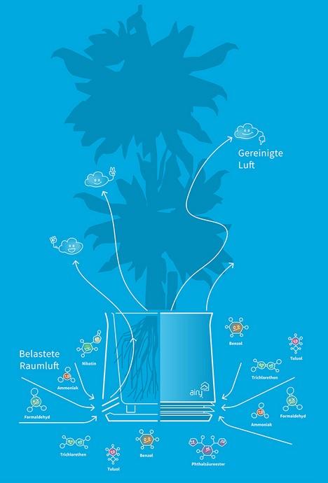 AIRY: Allein mit der Kraft der Pflanze die Raumluft reinigen
