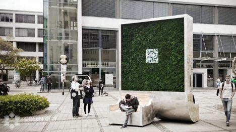 Moos-Wand für bessere Luft in Innenstädten: CityTree in Jena