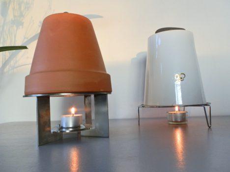 Verschiedene Teelicht-Öfen mit Stövchen, Foto (C) Irmgard Brottrager