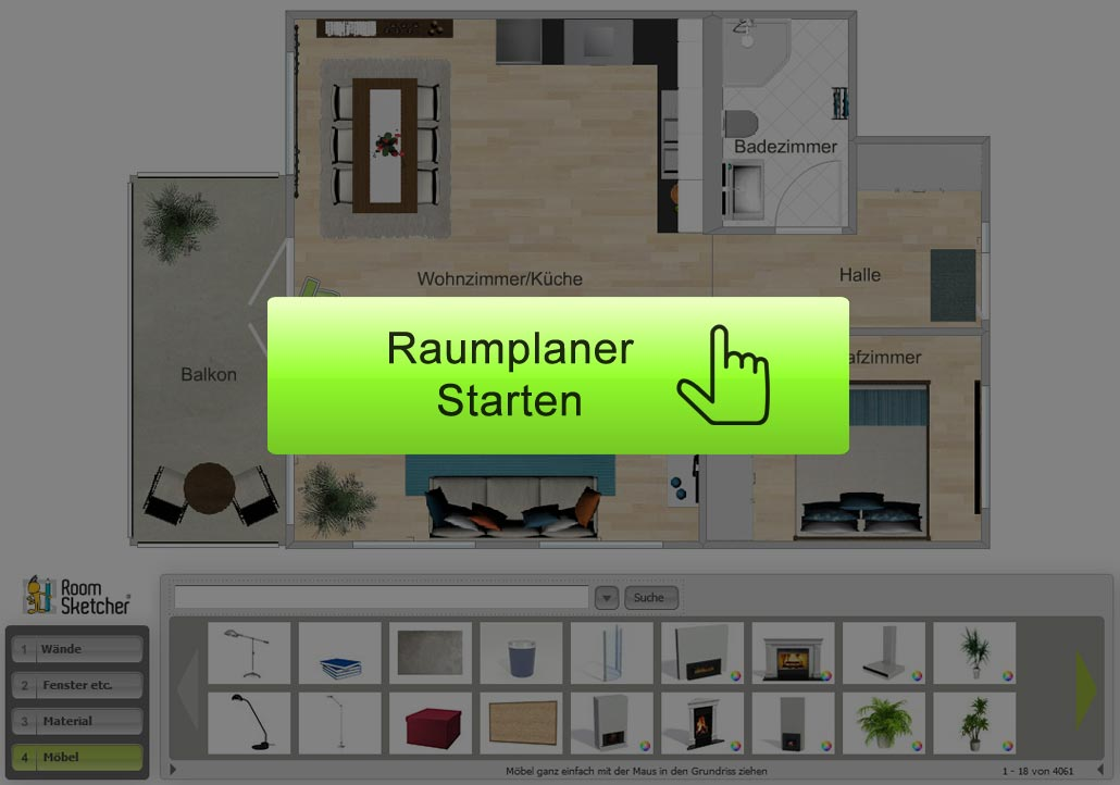 Raumplaner wohnung planen in 3d everyday feng shui for Raumplaner 3d