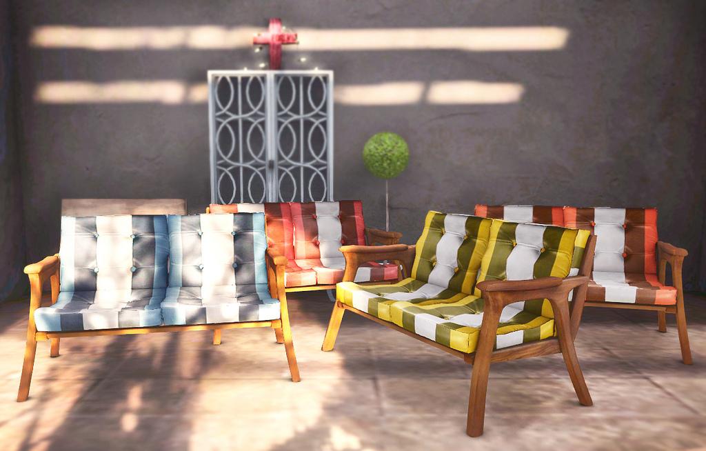 Stilecht: Sofas aus den Sechzigern z.B. als Terrassenmöbel
