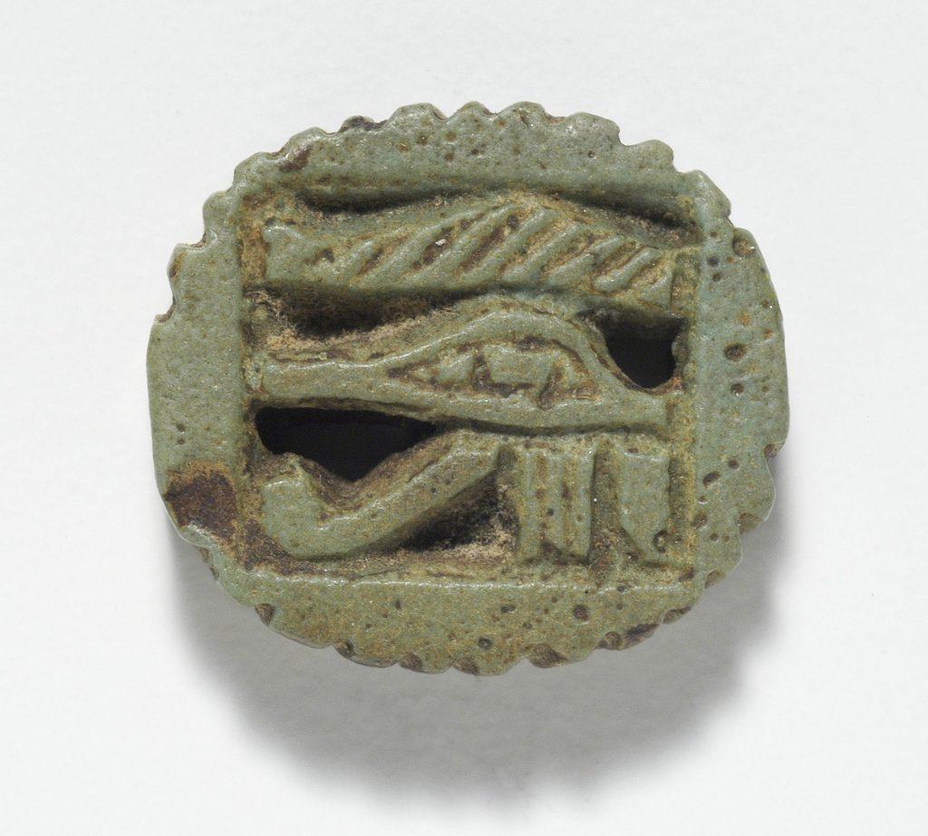 Amulett mit Horusauge aus dem alten Ägypten, Foto (C) Ashley Van Haeften / flickr CC BY 2.0