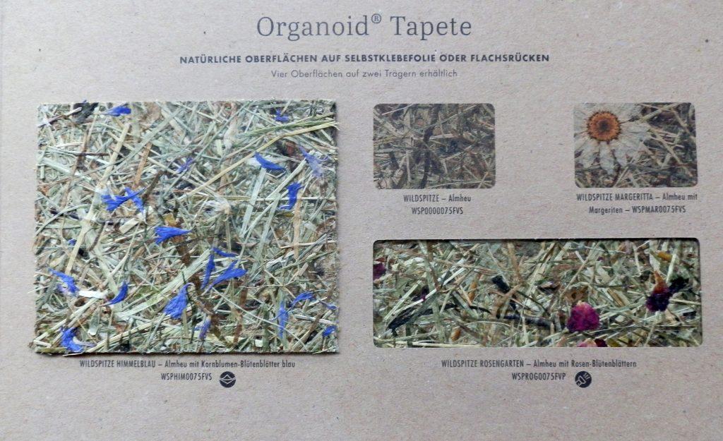 Muster von einer Heu-Tapete, Foto: Irmgard Brottrager, Hersteller: Organoid®
