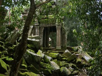 Ausschnitt aus dem Gebäudekomplex Ta Prohm bei Angkor Wat, Foto: Allie_Caulfield / flickr CC BY 2.0
