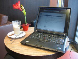 Eine chemieverseuchte Miniblume und ein Cafe Latte reichen mit Sicherheit nicht aus, um einen WLAN-Empfangsraum zu harmonisieren. Foto: Rene Schwietzke / flickr CC BY 2.0