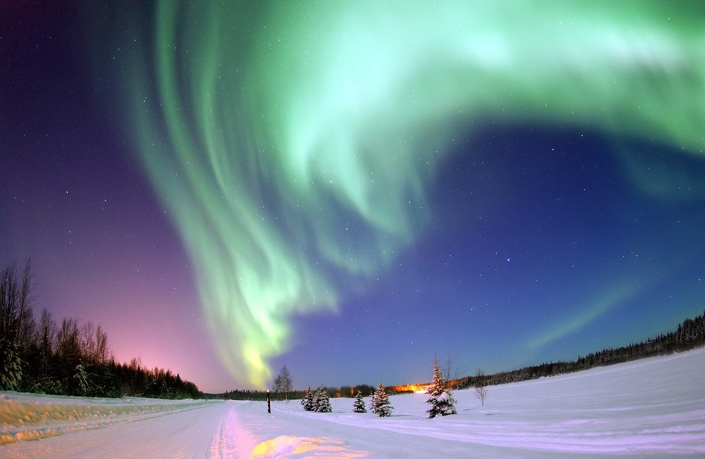 Polarlichter im Winter - Symbol für stetigen Wandel